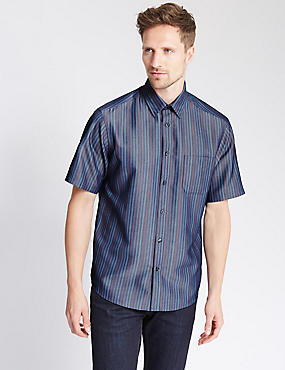 Modal Blend Easy Care Soft Touch Striped Shirt