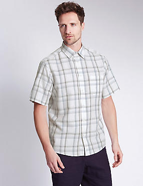 Modal Blend Easy Care Soft Touch Checked Shirt