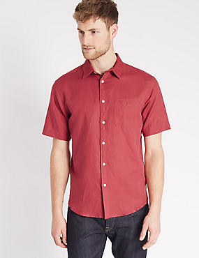 Cotton Blend Shirt with Pocket