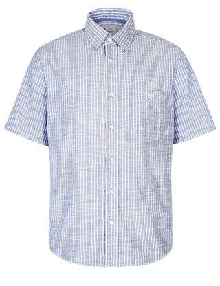 Pure Cotton Lightweight Bengal Striped Grosgrain Shirt Clothing