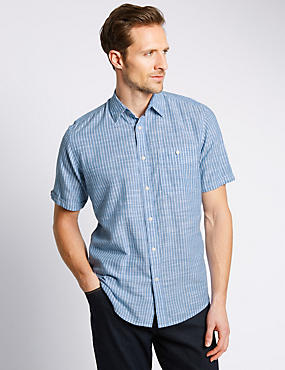 Mens big tall casual shirts for men m s for Big and tall casual shirts