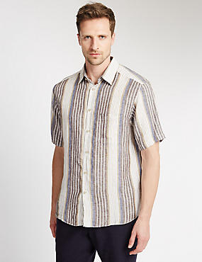 Pure Linen Easy to Iron Striped Shirt