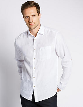 Pure Linen Easy to Iron Shirt