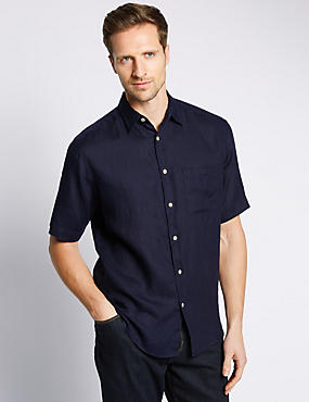 Pure Linen Easy to Iron Short Sleeve Shirt