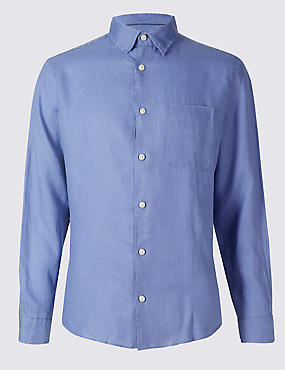 Easy Care Pure Linen Slim Fit Shirt