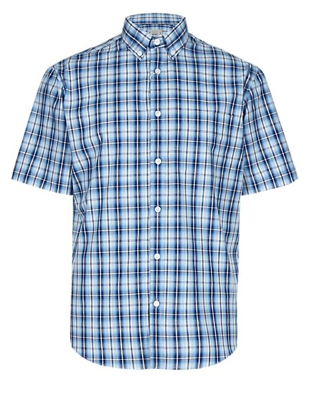 Pure Cotton Ombre Checked Shirt