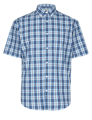 Pure Cotton Ombre Checked Shirt Clothing