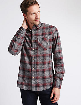 Pure Cotton Long Sleeve Checked Shirt