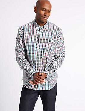 Soft Touch Pure Cotton Multi Gingham Shirt