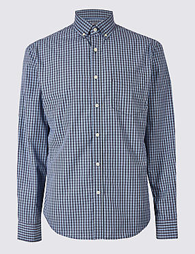 Soft Touch Pure Cotton Checked Shirt