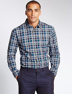 Big & Tall Pure Cotton Checked Shirt