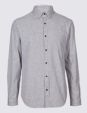Pure Cotton Slim Fit Shirt with Pocket