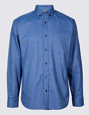 Easy Care Pure Cotton Slim Fit Oxford Shirt