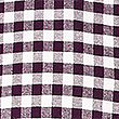 Pure Cotton Checked Oxford Shirt, BURGUNDY, swatch