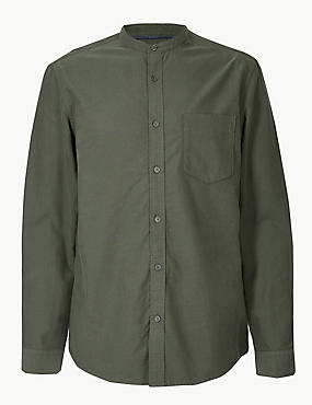 Pure Cotton Shirt with Pocket, KHAKI, catlanding