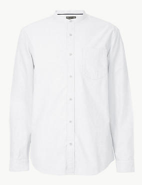 Pure Cotton Shirt with Pocket, WHITE/WHITE, catlanding