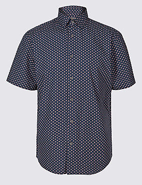 Pure Cotton Spotted Shirt