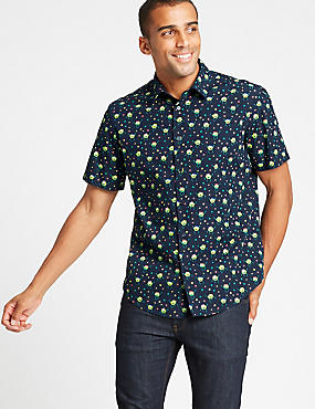 Pure Cotton Brussel Sprouts Christmas Shirt, NAVY MIX, catlanding