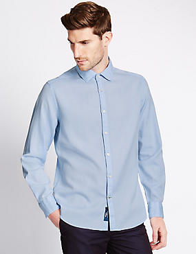 Italian Fabric Pure Cotton Tailored Fit Shirt