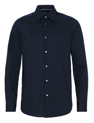 Stretch Cotton Classic Collar Shirt Clothing