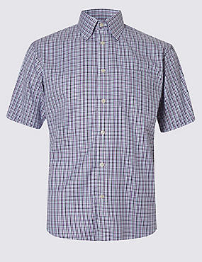 Luxury Pure Cotton Houndstooth Shirt