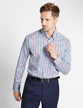 Pure Cotton Stripe Shirt