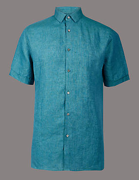Luxury Pure Linen Slim Fit Shirt