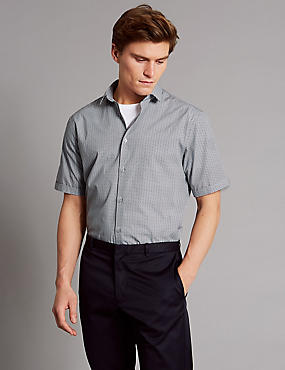 Pure Cotton Printed Shirt, NAVY MIX, catlanding