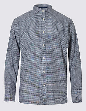 Italian Fabric Pure Cotton Maze Checked Shirt
