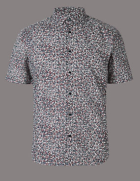Supima Cotton Slim Fit Printed Shirt