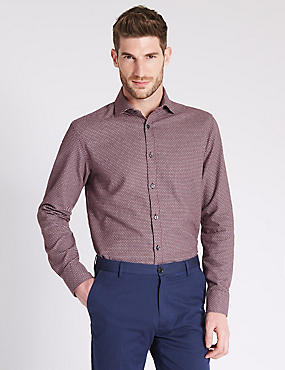 Tailored Fit Pure Cotton Long Sleeve Shirt