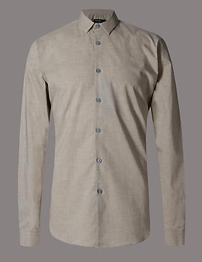 Luxury Supima® Cotton Tailored Fit Shirt