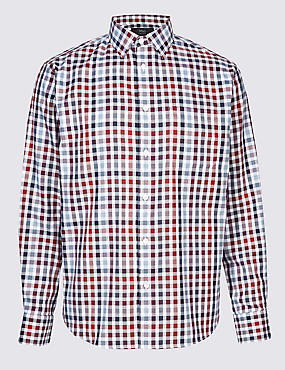 Luxury Pure Cotton Checked Shirt