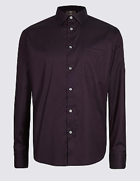 Luxury Pure Cotton Textured Shirt