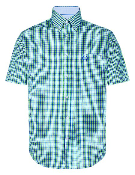 Pure Cotton Mini Gingham Checked Shirt
