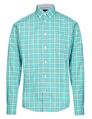Supersoft Pure Cotton Checked Shirt Clothing