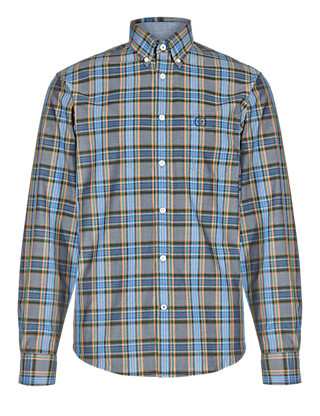 Pure Cotton Long Sleeve Square Checked Shirt Clothing