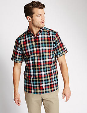 Big and Tall Pure Cotton Checked Shirt