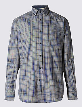 Pure Cotton Tailored Fit Shirt with Pocket