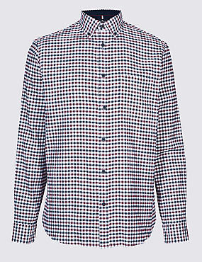 Luxury Brushed Cotton Checked Shirt