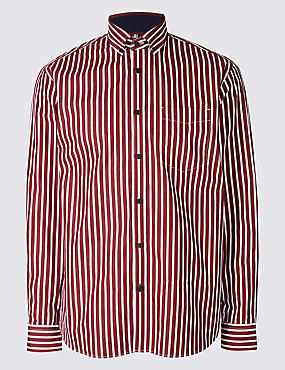 Luxury Pure Cotton Striped Shirt