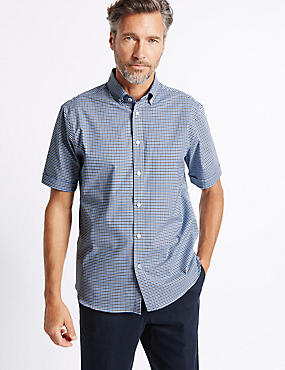 Cotton Rich Checked Shirt