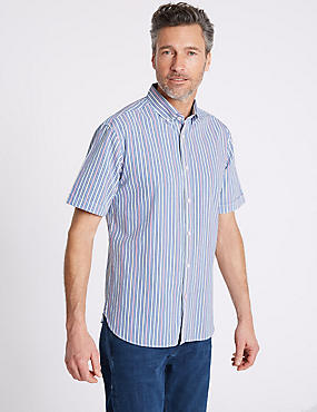 Pure Cotton Striped Shirt, MULTI, catlanding