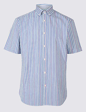 Pure Cotton Striped Shirt, MULTI, catlanding