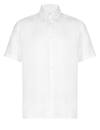 Linen Blend Classic Collar Shirt Clothing