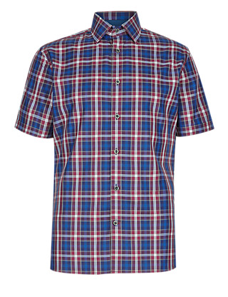 Pure Cotton Tailored Fit Classic Checked Shirt Clothing