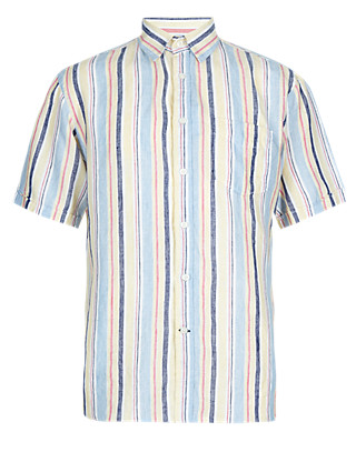 Pure Linen Varied Striped Shirt Clothing