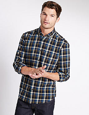 Long Sleeve Brushed Flannel Shirt