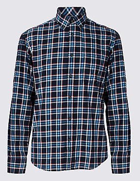 Pure Cotton Long Sleeve Flannel Shirt