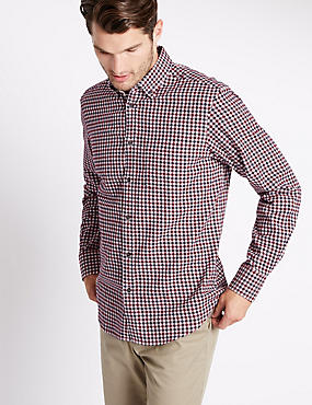 Pure Cotton Brushed Flannel Shirt